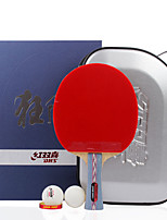 6 Stars Ping Pang/Table Tennis Rackets Ping Pang Wood Long Handle Pimples