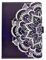 Für iphone ipad (2017) ipad pro 9.7 '' PU-lederner Material halbes Blumenmuster gemaltes flaches schützende Abdeckung ipad Luft 2 Luft