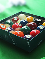 Billiard Balls Pool Compact Size Resin