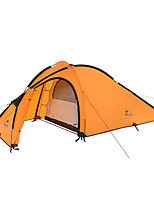 3-4 personnes Tente Double Tente pliable Une pièce Tente de camping Aluminium Nylon Silicone Pliable Portable-Camping Extérieur-Orange