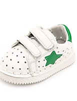 Kids' Baby Sneakers First Walkers Leatherette Spring Summer Casual First Walkers Flat Heel White Black Flat