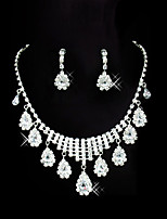 Jewelry Set Adorable Rhinestone Drop 1 Necklace 1 Pair of Earrings For Wedding Party Special Occasion Anniversary