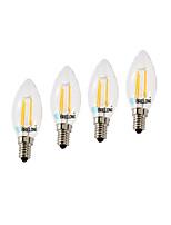 BRELONG Dimmable 4W E14 4COB LED Filament Bulbs  White / Warm White AC220V 4Pcs