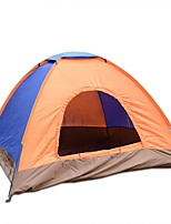 3-4 persons Tent Single One Room Camping TentCamping Traveling-Blue Orange