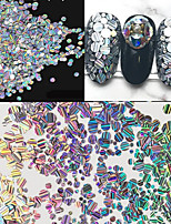 2g/Box 1MM 2MM 3MM Mixed Sizes Laser Color Intrigue Paillette Nail Art Decorations