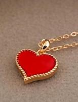 Жен. Ожерелья с подвесками Ожерелья-цепочки Бижутерия Искусственный жемчуг В форме сердца СплавБазовый дизайн Уникальный дизайн С