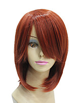 Sexy Heat Resistant Fiber Short Orange Straight Wigs for Cosplay and Party