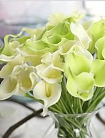 10 Une succursale Contact réel Calla Lily Fleur de Table Fleurs artificielles