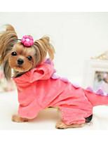 Собаки Плащи Одежда для собак Милые Мода Цветовые блоки Зеленый Розовый