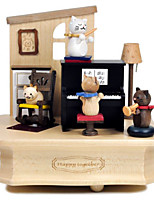 Music Box Square Leisure Hobby Wood Not Specified