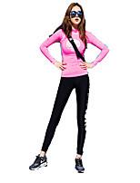 Damen Langärmelige Laufen Kleidungs-Sets/Anzüge warm halten Weich Komfortabel Herbst Winter SportbekleidungYoga Golfspiel Freizeit Sport