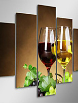 Art Print Still Life Modern Five Panels Horizontal Print Wall Decor For Home Decoration