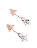 Boucles d'oreille gitane Cristal Adorable Personnalisé Le style mignon euroaméricains Rouge Rose Bijoux Pour Mariage Soirée Anniversaire1