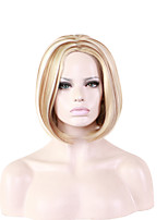 Short Straight Side Blonde Women Synthetic Wig Fiber Cheap Cosplay Party Hair