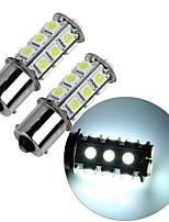 2шт 1156 18 * 5050smd светодиодная лампа для автомобиля белый свет dc12v