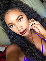 Hot Style Curly 360 Lace Frontal Wigs 250% Density 360 Lace Frontal Wigs with Baby Hair for Black Women Brazilian Virgin Human Hair Wigs Natural Color