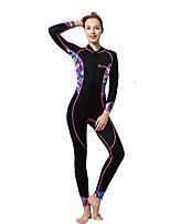 Femme Costumes humides Séchage rapide Résistant aux ultraviolets Isolé Antiradiation Nylon Néoprène Tenue de plongée Manches longues