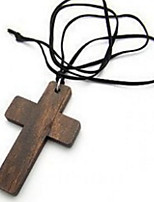 Pendant Necklaces Wooden Cross Korea Role Mens Womens Lovers Vintage Jewelry