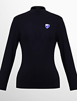 Femme Manches longues Golf Hauts/Tops Respirable Anti-transpiration Doux Confortable Blanc Noir Rose Golf Sport de détente
