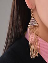 Dangle Earrings Jewelry Rhinestone Tassel Tassels Euramerican Fashion Personalized Rhinestone Chrome Triangle Shape Jewelry ForParty