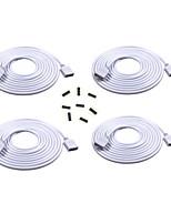 Удлинительный кабель 4шт длиной 2 м подключите штекер к розетке для полосы rgb 3528 5050 с разъемами 8шт 4pin
