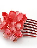 Satin Lace Plastic Headpiece-Wedding Special Occasion Casual Hair Combs 1 Piece