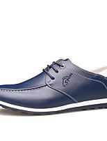 Черный Коричневый Синий-Для мужчин-Для офиса Повседневный Для вечеринки / ужина-Микроволокно-На плоской подошве-Удобная обувь