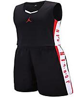 Homme Manches courtes Basket-ball Ensemble de Vêtements/Tenus Cuissards Respirable Confortable Noir Violet Jaune Vert Véronèse RougeL XL
