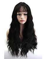 Long Natural Wave Wigs Women Cosplay Wig Natural Black Synthetic Hair High Temperature