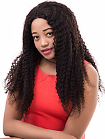 Pre Plucked Brazilian Remy Hair Bleached Knots Kinky Curly Lace Front Human Hair Wigs For Black Women