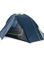 2 personnes Tente Double Tente pliable Une pièce Tente de camping Aluminium Nylon Silicone Pliable Portable-Camping Extérieur-Bleu