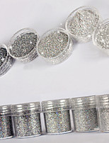 10ml High Flash Glitzer Pailletten Diamant superfine Silber Nail Art Dekoration für Nagellack