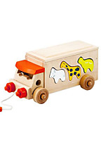 Building Blocks Educational Toy For Gift  Building Blocks Leisure Hobby Bus Wood 5 to 7 Years 8 to 13 Years 14 Years & Up Toys