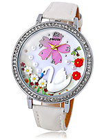 Women's Fashion Watch Chinese Quartz PU Band White White