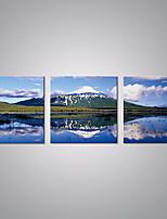 Estampados de Lonas Esticada Paisagem Moderno Realismo,3 Painéis Tela Horizontal Impressão artística Decoração de Parede For Decoração