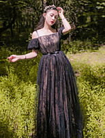 One-Piece/Dress Classic/Traditional Lolita  Bohemian See Through Vintage Inspired Elegant Princess Cosplay Lolita Dress Floral Lace VintageShort