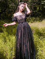 Una Sola Pieza/Vestidos Lolita Clásica y Tradicional See Through Inspiración Vintage Elegant Princesa Cosplay Vestido  de Lolita Blanco