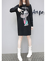Tee-shirt Femme,Imprimé Plage Mignon Manches Longues Col Arrondi Coton