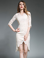 Maxlindy Women's Going out / Party/Holiday Vintage / Street chic /Bodycon Dress