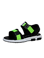 Children Summer Casual Sandals Flat Heel PU Leather Sand beach lightweight Shoes High Quality Slip-on Shoes for /Outdoor/Casual Black Red Green