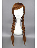 Anna Brown Synthetic 22inch Anime Cosplay Wigs CS-135B