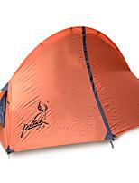 1 personne Tente Double Tente pliable Une pièce Tente de camping Fibre de verre Oxford Etanche Portable-Randonnée Camping-Orange