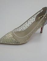 Damen-Hochzeit Schuhe-Hochzeit Kleid Party & Festivität-Glanz Tüll PU-Stöckelabsatz-Club-Schuhe Transparente Schuh-