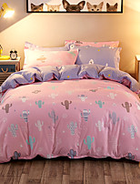 Duvet Cover Set 1pc Duvet Cover 1pc Bed Sheet Set 2  pcs Pillowcase Bedding Set Sweet orange