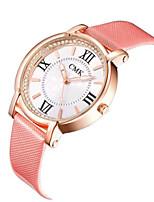 Mulheres Homens Relógio de Moda Quartzo Couro Banda Preta Vermelho Rosa