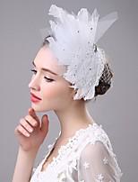 Feather Rhinestone Tulle Headpiece-Wedding Special Occasion Fascinators 1 Piece