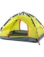 3-4 человека Световой тент Двойная Складной тент Однокомнатная Палатка Оксфорд Складной Переносной-Походы На открытом воздухе-зеленый