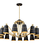 15 Lights Chandelier Vintage Brass Rose Rust Painting Color Metal for Living Room Bedroom E14