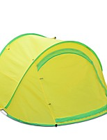2 persons Tent Single Automatic Tent One Room Camping TentCamping Traveling-Yellow