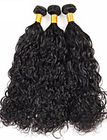 Natural Color Hair Weaves Brazilian Texture Water Wave 12 Months 3 Pieces hair weaves
